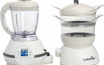 Multifunkční přístroj Babymoov NUTRIBABY, Cream bílý/béžový + Doprava zdarma