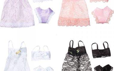 Modní šaty se spodním prádlem pro panenku barbie