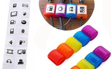Plastové rozdělovače kabelů - 10 ks, více barev v balení