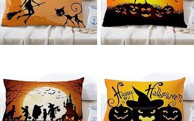 Halloweenský potah na polštář - 30 x 50 cm - poštovné zdarma