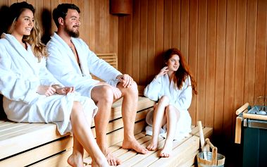 Privátní sauna pro dvě až čtyři osoby