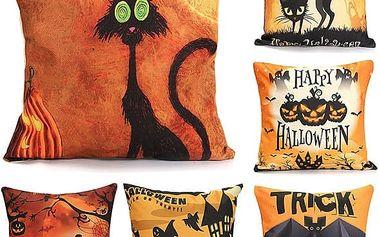 Halloweenský potah na polštář - 45 x 45 cm - poštovné zdarma