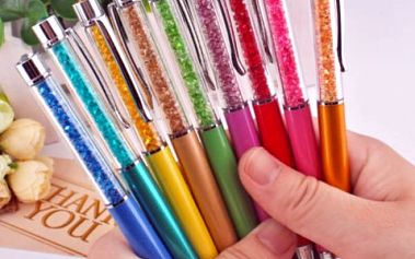 Kuličkové pero s zářivými kamínky 0,7mm