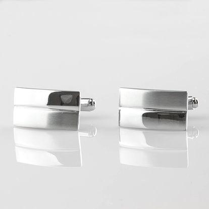 Fashion Icon Manžetové knoflíky hladké z chirurgické oceli, rhodiované