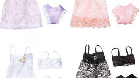 Modní šaty se spodním prádlem pro panenku barbie - poštovné zdarma