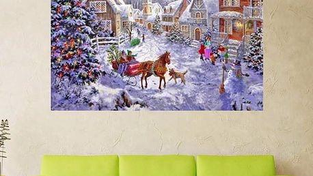 Sada pro výrobu vlastního obrazu - vánoční vesnička - poštovné zdarma
