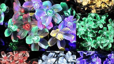 LED solární květinové osvětlení