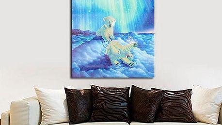 Sada pro výrobu vlastního obrazu - roztomilí medvědi