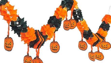 Halloweenská dekorace - papírový řetěz - poštovné zdarma