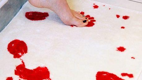 Kreativní protiskluzový kobereček do koupelny - krvavé stopy - dodání do 2 dnů