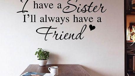 Samolepka na zeď - Sestra - poštovné zdarma