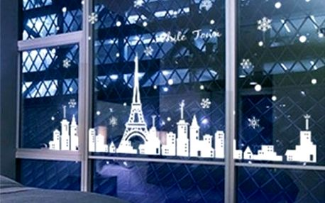Eiffelova věž - samolepka na okno