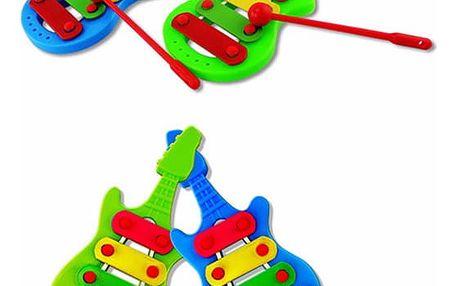 Dětský mini xylofon v podobě kytary
