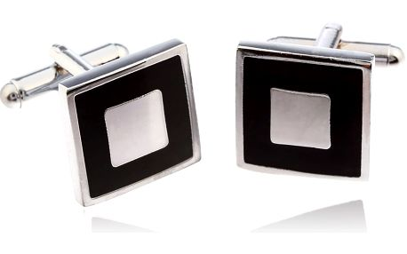 Fashion Icon Manžetové knoflíčky čtverec rhodiované
