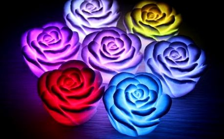LED lampička v podobě růžičky - různé barvy