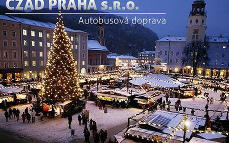 1denní zájezd do adventního Salzburgu pro 1 osobu, užijte si předvánoční atmosféru na trzích.