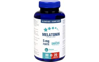 Aurum Melatonin 5 mg Forte 80 tbl. + 20 tbl. ZDARMA