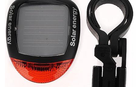 Solární zadní světlo (blikačka) na kolo 2 LED