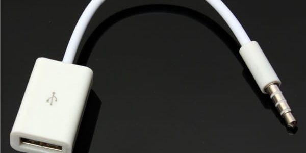 AUX audio kabel 3,5 mm - female USB - dodání do 2 dnů