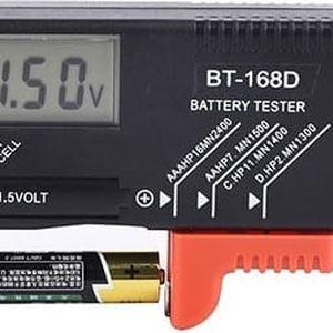 Černý tester baterií - digitální displej