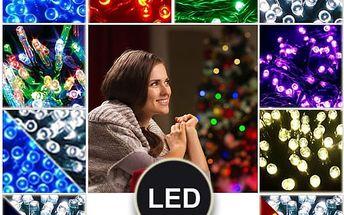 Vánoční osvětlení 210 LED - Řetězy v 5 barvách o délce 21 metrů.