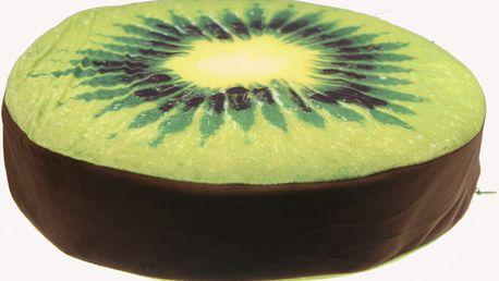 Luxusní kulatý polštář s motivem ovoce Vzor: Kiwi
