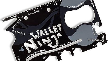 Wallet Ninja 18v1 - Multifunkční karta do každé peněženky.