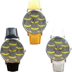 Dámské hodinky s originálním ciferníkem s banány