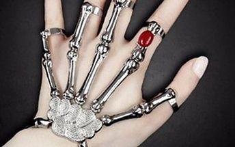 Nastavitelný halloweenský náramek ve tvaru kostry ruky - poštovné zdarma