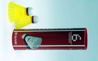 Velké balení (6 kusů) závodních badmintonových míčků