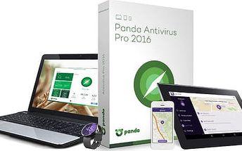 Panda Antivirus Pro 2016 pro 1 počítač s licencí na 3 roky