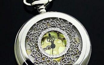Kapesní hodinky se zlatavým podkladem - skladovka - poštovné zdarma