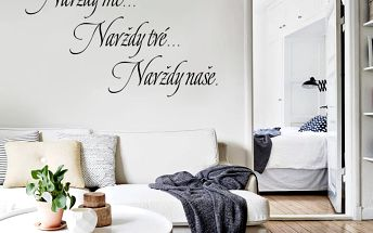 Samolepka na zeď Navždy, 70x50 cm