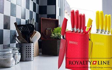 7dílná sada švýcarských kuchyňských nožů Royalty Line z nerezové oceli včetně stojanu s doručením zdarma