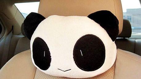 Roztomilý polštářek do auta Panda