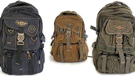 Stylový cestovatelský batoh v různých barvách