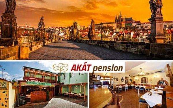 Ubytování v Praze pro 2 osoby se snídaní v pensionu Akát