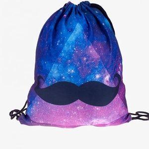 Vak na záda s pestrobarevnými motivy - Vesmírný knír - skladovka - poštovné zdarma