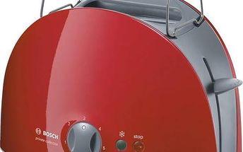 Opékač topinek Bosch Private collection TAT6104 šedý/červený