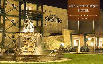 Slovensko, Piešťany pro dva až na 4 dny ve 4* Grand Hotelu Sergijo + polopenze i wellness