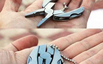Mini multifunkční kleštičky na klíče - skladovka - poštovné zdarma