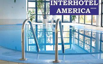 Wellness pobyt pro dva na 3 dny v Interhotelu America, bazén, sauna a fitness, sladké překvapení atd