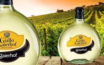 2 láhve bílého italského vína z oblasti Trentino v dárkové kazetě