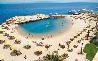 SUNRISE HOLIDAYS RESORT, Egypt, Hurghada, 8 dní, Letecky, All inclusive, Alespoň 4 ★★★★, sleva 55 %, bonus (Levné parkování u letiště: 8 dní 499,- | 12 dní 749,- | 16 dní 899,- )