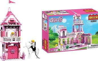 Stavebnice pro holčičky – sada zámek, princezna a princ