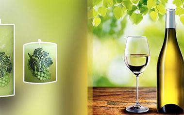 Vytvořte si příjemnou atmosféru u sklenky vína s tématickou svíčkou.