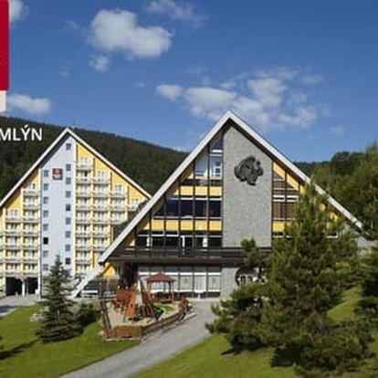 Hotel Clarion**** pro 2 osoby s polopenzí a bohatým wellness ve Špindlerově Mlýně