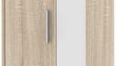 SOFIE skříň SO 20, bílá/dub sonoma