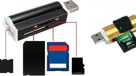 USB univerzální čtečka na paměťové karty - skladovka - poštovné zdarma