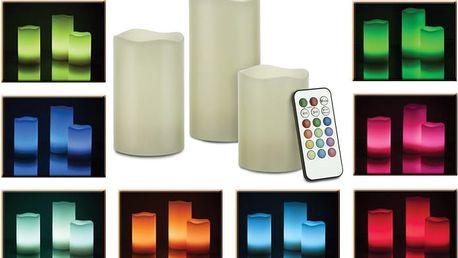 Led svíčky - 3 kusy na dálkové ovládání